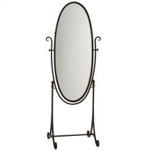 Black Cheval Mirror on Stand.