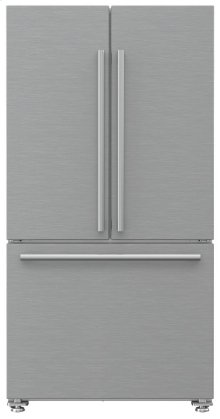 "NEW! 36"" French Door Refrigerator counter depth 22.3 cuft, stainless doors, stainless handles"