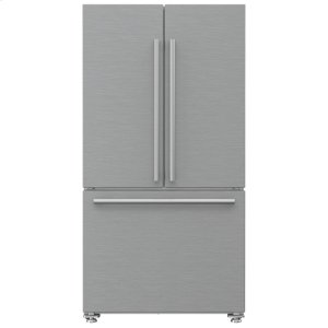 "Blomberg AppliancesNEW! 36"" French Door Refrigerator counter depth 22.3 cuft, stainless doors, stainless handles"