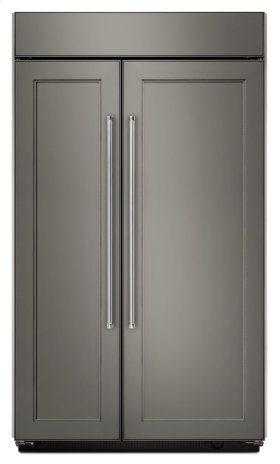 25.5 cu. ft 42-Inch Width Built-In Side by Side Refrigerator - Panel Ready