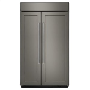 25.5 cu. ft 42-Inch Width Built-In Side by Side Refrigerator - Panel Ready -