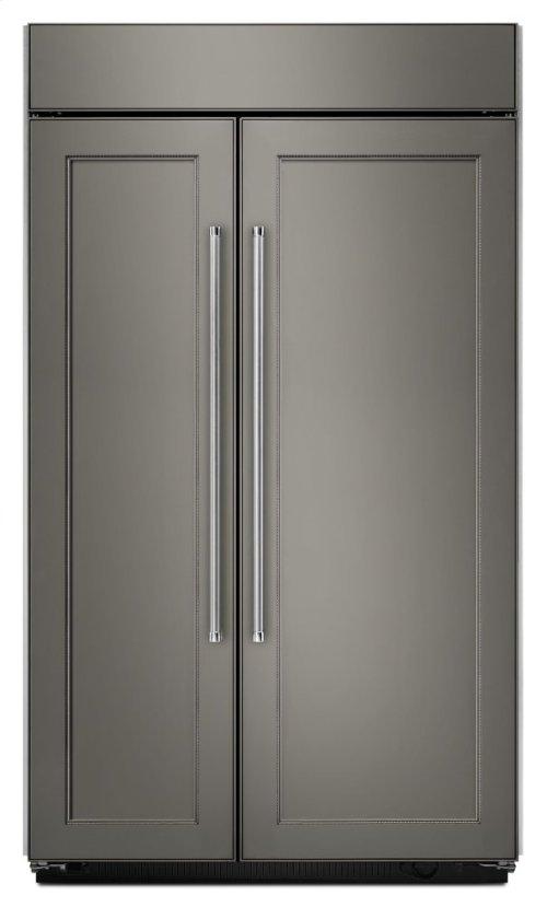 25.5 cu. ft 42-Inch Width Built-In Side by Side Refrigerator - Panel Ready