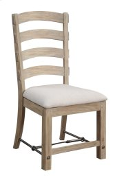 Ladderback Side Chair W/ Uph Seat Rta Product Image