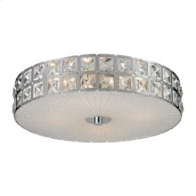Wickham 4-Light Flush Mount in Chrome with Crystal