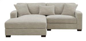 Rsf Chair-lsf-chaise W/3 Pillows Silver