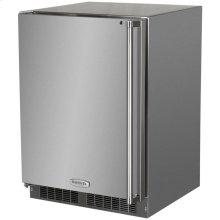 """24"""" Outdoor Refrigerator Freezer  Marvel Premium Refrigeration - 24"""" Outdoor Refrigerator/Freezer with Solid Stainless Steel Door with Lock - Left Hinge"""