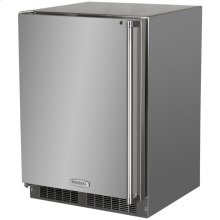 "24"" Outdoor Refrigerator Freezer  Marvel Premium Refrigeration - 24"" Outdoor Refrigerator/Freezer with Solid Stainless Steel Door with Lock - Left Hinge"