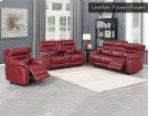 "Fortuna Recliner Sofa Wine Pwr/Pwr 84""x38""x41"" Product Image"