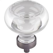 "1-3/4"" Diameter Glass Button Cabinet Knob."