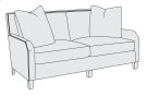 Maxine Loveseat in Mocha (751) Product Image