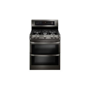 6.9 cu. ft. Gas Double Oven Range with ProBake Convection®, EasyClean® and Gliding Rack - BLACK STAINLESS STEEL