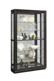 Rockford Mirrored Two Way Sliding Door Curio