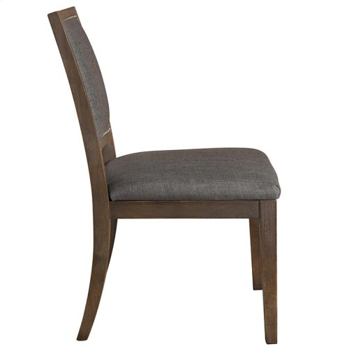 Custom Dining Square X-Back Uph Side Chair