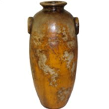 Textured Amber Tall Jar w/ 2 Handles