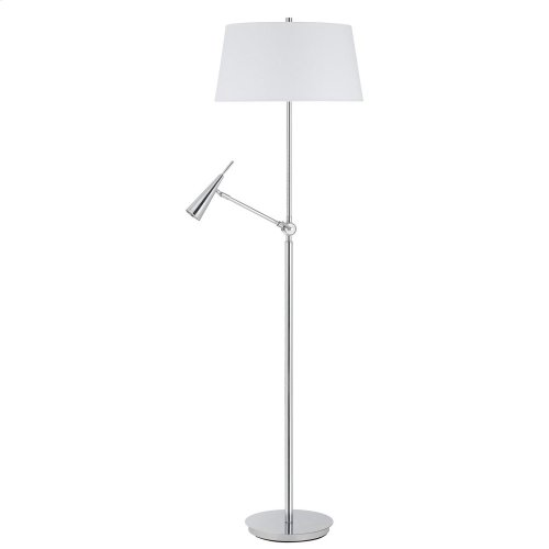 100W Metal Floor Lamp With LED 6W, 450 Lumen GU10, 3K Reading Lamp (Bulb Included)