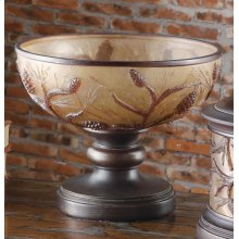 """""""Autumn's Light"""" Footed Bowl"""