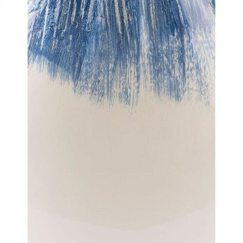 Ombre Round Vase Blue & White