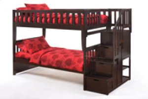 Peppermint Stair Bunk in Dark Chocolate Finish