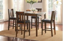 5-Piece Pack Counter Height Set Table : 42 x 42 x 36H Chair : 18 x 20 x 40H
