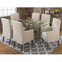 Table & 6 Upholstered Chairs