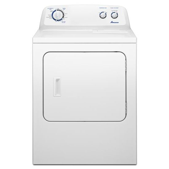 top load electric dryer with energy preferred cycle white