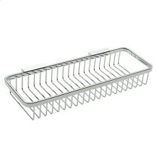 Polished Chrome Long Deep Toiletry Basket