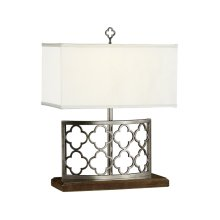 Silver Gothic Trellis Table Lamp