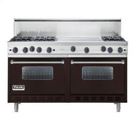 "Chocolate 60"" Open Burner Commercial Depth Range - VGRC (60"" wide, six burners 24"" wide griddle/simmer plate)"
