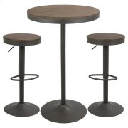 Dakota 3pc Pub Set - Grey / Brown Product Image