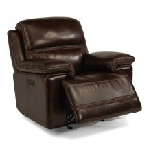 Fenwick Leather Power Gliding Recliner with Power Headrest