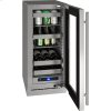 """U-Line 5 Class 15"""" Beverage Center With Stainless Frame Finish And Field Reversible Door Swing (115 Volts / 60 Hz)"""