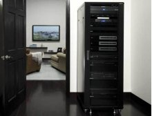 "70.5"" Tall AV Rack 36U Component rack for home theater equipment"