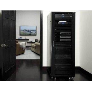 """Sanus70.5"""" Tall AV Rack 36U Component rack for home theater equipment"""