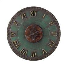 Metal Roman Numeral Outdoor Wall Clock