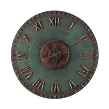 Metal Roman Numeral Outdoor Wall Clock