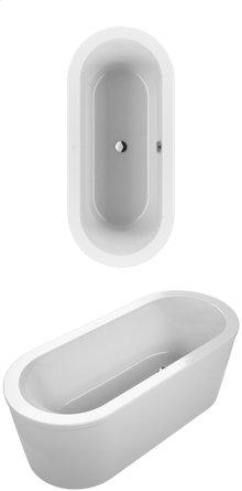 Bathtub Oval - white (alpin)