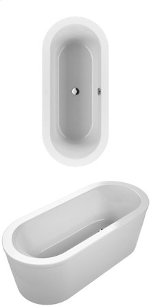 Bathtub Oval - white (alpin)