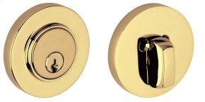 Lifetime Polished Brass Contemporary Deadbolt