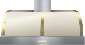 Hood DECO 48'' Cream matte, Gold 1 power blower, electronic buttons control, baffle filters