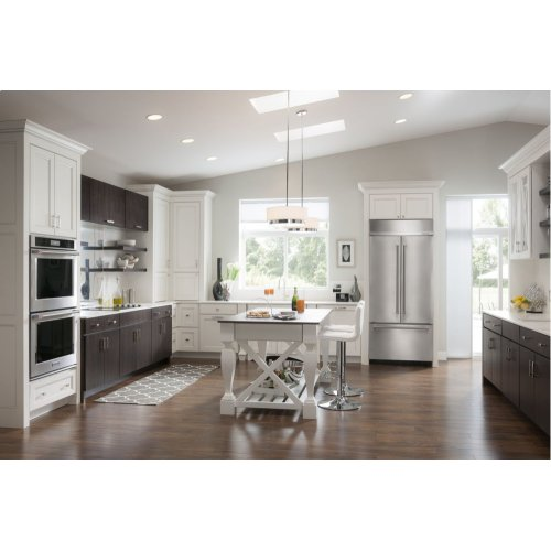"""20.8 Cu. Ft. 36"""" Width Built-In Panel Ready French Door Refrigerator with Platinum Interior Design - Stainless Steel"""