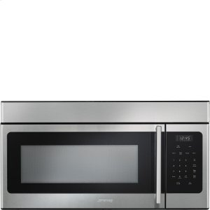 SmegOver-the-Range Microwave, 30'', Microwave/Vent Hood Fingerprint-Proof Stainless Steel