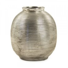 Distressed Metallic Spherical Vase