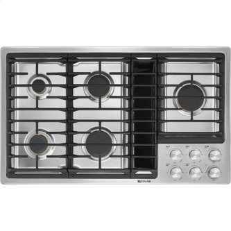 """36"""" JX3 Gas Downdraft Cooktop, Stainless Steel"""