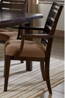 Set Up Wood Back Arm Chair With Upholstered Seat Product Image