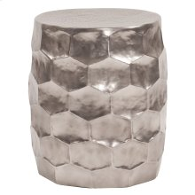 Hammered Aluminum Graphite Stool