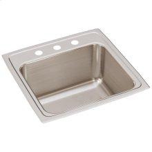 "Elkay Lustertone Classic Stainless Steel 19-1/2"" x 19"" x 10-1/8"", Single Bowl Drop-in Laundry Sink"