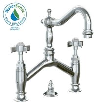 Savina Bridge Style Lavatory Faucet Cross Handles - Polished Chrome