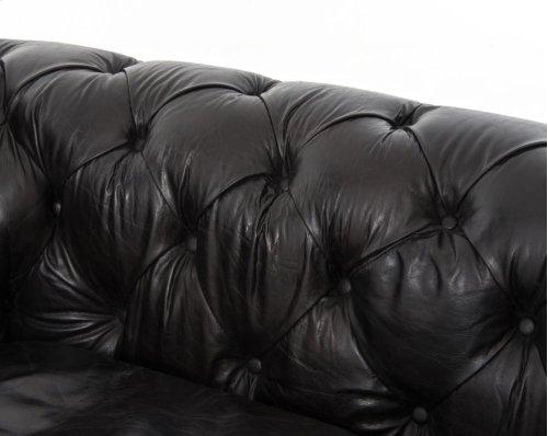 """96"""" Size Rider Black Cover Conrad Sofa"""