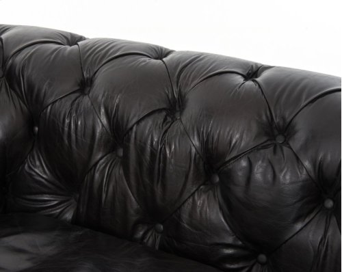 "96"" Size Old Saddle Black Cover Conrad Sofa"