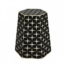 Star Weave Tapered Hexagon Side Table/Stool